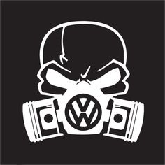 Custom Volkswagon Skull Mask For Golf Gti Vw Jetta Beetle Euro Car Sticker Jdm