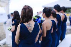 navy bridesmaid dresses Acuatico  beach wedding valentines day Pia Gladys Perey