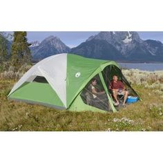 Outdoor C&ing Tent Coleman Screened Canopy Tent Family Cabin Tent for 8 Person  sc 1 st  Pinterest & Best Family Tents With Screen Room For 2018 Here you have a list ...