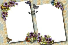 Transparent Butterflies Photo-Frame
