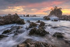 Roaring wave by jae youn Ryu The Rock, Sunrise, Waves, Nature, Pine Tree, Oceans, Photography, Outdoor, Landscapes