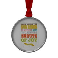 Christian Scriptural Bible Verse - Psalm 65:8 Christmas Tree Ornaments