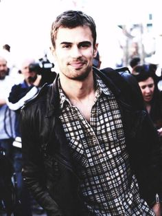 Not usually my type, but he's growing on me. Theo James