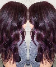 25 sweet plum hair color ideas  #color #ideas #sweet