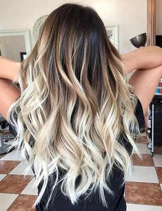 Image result for hair from brown to blonde