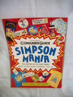 Vintage Simpson Mania History and Fun Fact Book by Consumer Guide- 1990 by…