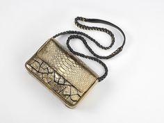 Gold python Baby Ravn #handbags #unique