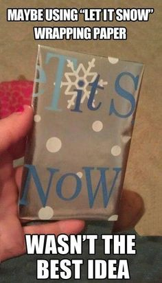 Lol wrapping paper fail!!