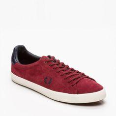 Sneakers, cuir suédé bordeaux