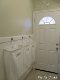 great tiny laundry room - with those awesome bags i want