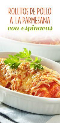 Los rollitos de pollo a la parmesana son unas deliciosas pechugas de pollo rellenas de verduras y queso crema acompañadas de una rica salsa de puré de tomate. Es una receta muy fácil de preparar y con un sabor espectacular.