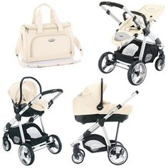 Brevi Ovo 3 in 1 Pram Hard Shell Carrycot beige - Collection 2014 Favorite stroller set The Sims, Best Prams, Travel Systems For Baby, Baby Necessities, Baby Essentials, Baby Gadgets, Baby Planning, Cool Baby Stuff, Babies Stuff