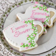 Treat your guests to personalized cookies to celebrate your bridal shower