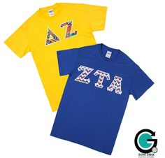 CUSTOM 2 Color T-Shirts with Greek Letters by GoneGreek on Etsy