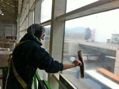 Lavado interior de ventanas, Planta Cereales, Carozzi