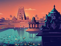 Culture Trip - Chennai designed by ranganath krishnamani. Connect with them on Dribbble; the global community for designers and creative professionals. Indian Illustration, Illustration Story, Digital Illustration, Design Illustrations, Bg Design, Paper Design, Flat Design, Bd Art, Indian Art Paintings