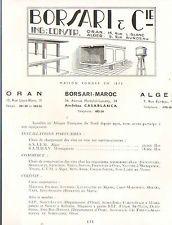 ALGER ORAN ETS BORSARI ENTREPRISE LEON BALLOT TRAVAUX PUBLICS 1953