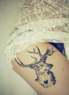 stag head tattoo