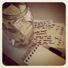 memory jar for adams  birthday. Fun to make and fun for him to read. :) have all his guest at his birthday write theyre fav memory of hin. Positive notes