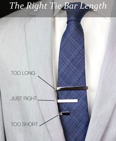 What is the right Tie Bar Length? via Bows-N-Ties.com