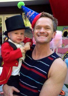 Neil Patrick harris with Gideon on his birthday