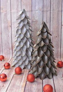 Chic Brocante Blog: DIY Plastic lepel kerstboom maken