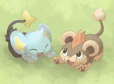 shinx, litleo, pokemon
