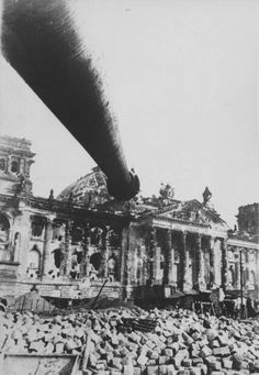 Russian tank at the Reichstag, Berlin, 1945