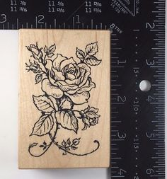 ELEGANT ROSE VINE Botanical PSX G1180 Rubber Stamp #270