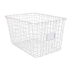 Wire basket www. Done By Deer, Wire Baskets, Plastic Laundry Basket, Home Goods, Girls, Boys, Bathroom, White People, Bed Sheets