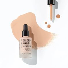 Catrice One Drop Coverage Weightless Concealer With hyaluronic acid Longlasting Waterproof Concealer, Concealer Brush, Waterproof Makeup, Liquid Foundation, Makeup Foundation, Makeup Revolution, Beauty Sponge, Maquillaje, Foundation