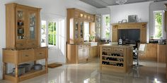 Loving this good olf fasioned englich wood hardie kitchen style Natural-Oak-Shaker