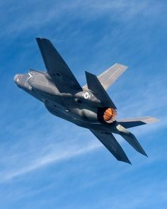 F-35B BF-4, piloted by Lockheed Martin test pilot David Nelson, goes into afterburner on its seventh flight.