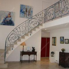 Balcons en fer forgé, style moderne, modèle Anneaux croisés   L 楼梯 ...