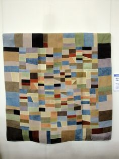 """""""SEA of Thought""""  Pojagi, Korean-style silk patchwork (Tokyo International Great Quilt festival)"""