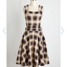 SALE Modcloth Effie's Heart plaid dress Worn once, EUC. Guest of Honor style ModCloth Dresses