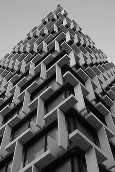 Grid and Geometry in Architectural Facade | Brutalist Council House in Perth, Australia