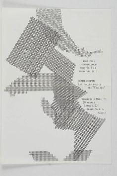 "CHOPIN Henri. Le Folles Folies de ""Follies"" Poésie sonore internationale. 1979"