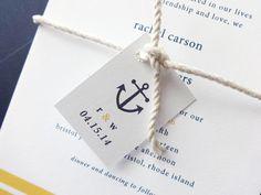 Nautical Bliss Wedding Invitation Deposit / by avisualconcept