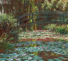 Japanese Bridge at Giverny by Claude Monet; painted in 1900.