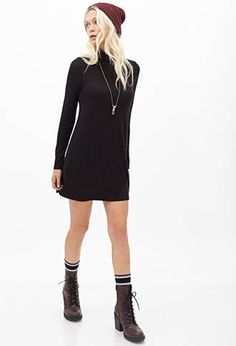 Ribbed Turtleneck Sweater Dress | FOREVER21 - 2000119448