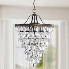 Cone Shape 4-light Matte Silver Crystal Chandelier - Free Shipping Today - Overstock.com - 13687713