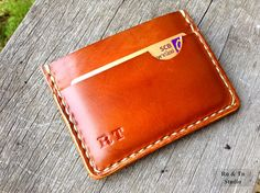 Personalized Little Thin mens wallet card case / Christmas for Men  / Gift for Him