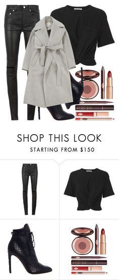 """""""sad girl."""" by inlovewith4idiots ❤ liked on Polyvore featuring Yves Saint Laurent, T By Alexander Wang, Alaïa, Charlotte Tilbury and Jason Wu"""