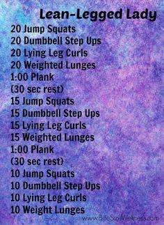 Lean Legged Lady Workout!