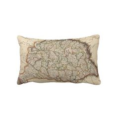 Vintage Map of Hungary (1817) Pillow from Zazzle.com $52.00