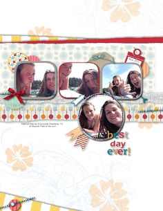 My Digital Studio (by Stampin' Up!) scrapbook page by Heather Westlake; On the Go components; http://www.stampinup.net/esuite/home/heathersfuninstamps/