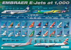 Embraer E jets posters in Airliners Monthly