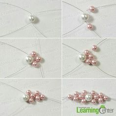 the middle pink flower for the charm pearl bracelet . - Make the middle pink flower for the charm pearl bracelet -Make the middle pink flower for the charm pearl bracelet . - Make the middle pink flower for the charm pearl bracelet - Bead Jewellery, Wire Jewelry, Bridal Jewelry, Gold Jewelry, Tanishq Jewellery, Jewelry Necklaces, Pearl Necklaces, Jewellery Shops, Diamond Jewellery