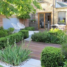 Small Courtyard Gardens, Small Backyard Gardens, Small Backyard Landscaping, Small Gardens, Outdoor Gardens, Backyard Pools, Backyard Ideas, Small Garden Planting Ideas, Small Garden Spaces